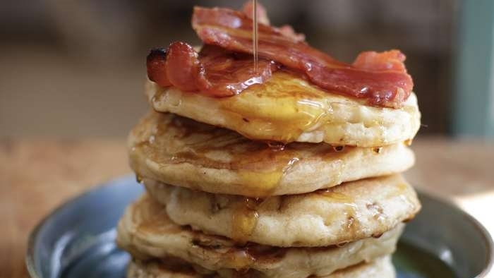 Matt's Fluffy Bacon Pancakes Recipe